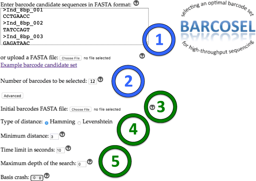 BARCOSEL: a tool for selecting an optimal barcode set for