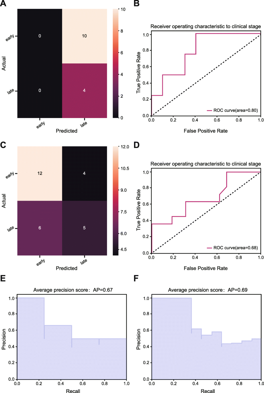 Prediction of pathologic stage in non-small cell lung cancer