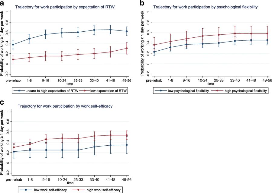 Biopsychosocial predictors and trajectories of work
