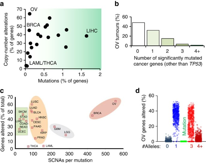 Haploinsufficiency Networks Identify Targetable Patterns Of Allelic Deficiency In Low Mutation Ovarian Cancer Nature Communications