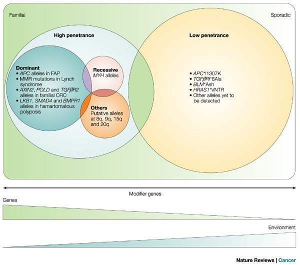 Genetic Predisposition To Colorectal Cancer Nature Reviews Cancer