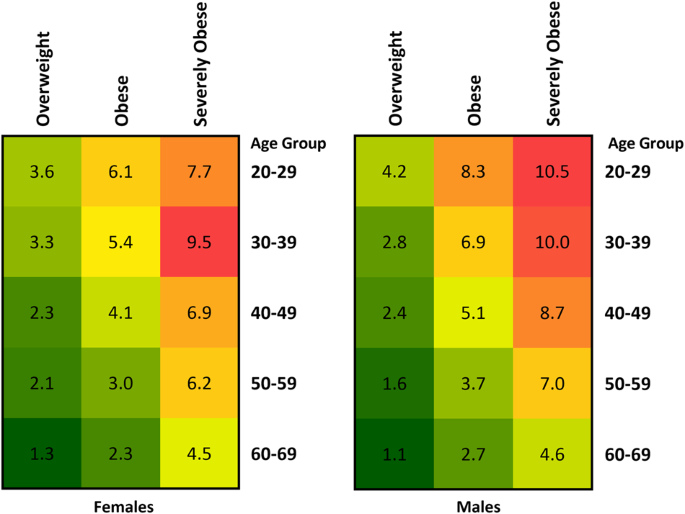 Impact Of Overweight Obesity And Severe Obesity On Life Expectancy