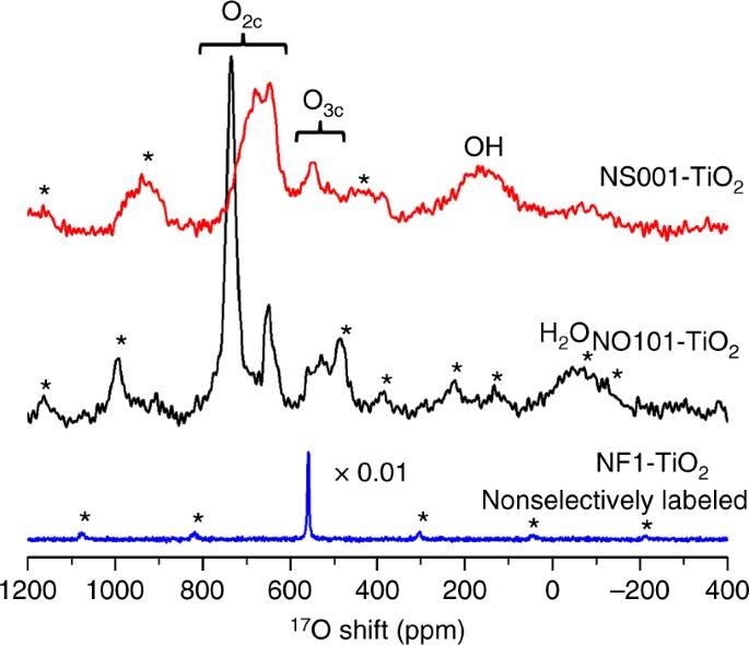Distinguishing faceted oxide nanocrystals with 17 O solid-state NMR