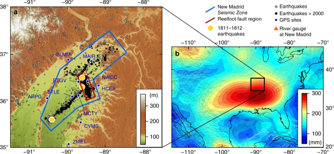 Hydrologically-driven crustal stresses and seismicity in the ...