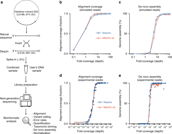 Synthetic microbe communities provide internal reference