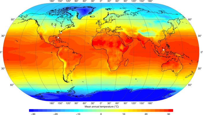 Paper World Map Sse.Tropical Peatland Carbon Storage Linked To Global Latitudinal Trends