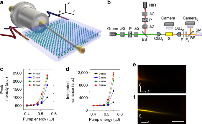 Beaming random lasers with soliton control   Nature Communications on