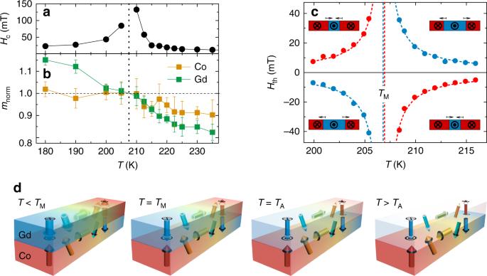 Exchange coupling torque in ferrimagnetic Co/Gd bilayer