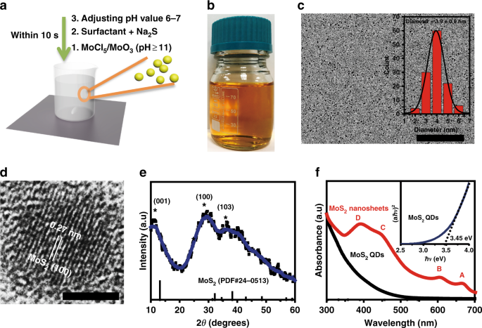 Defect engineered bioactive transition metals dichalcogenides