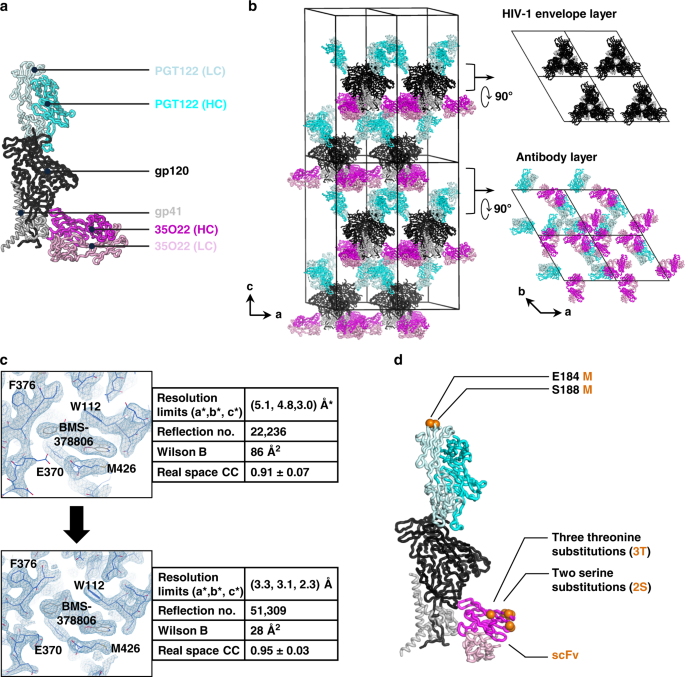 Lattice engineering enables definition of molecular features allowing for potent small-molecule inhibition of HIV-1 entry
