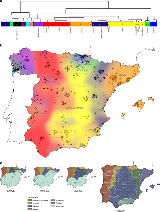 Spanish Map Of Spain.Patterns Of Genetic Differentiation And The Footprints Of Historical