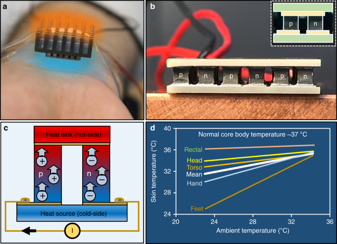 Ultra-high performance wearable thermoelectric coolers with
