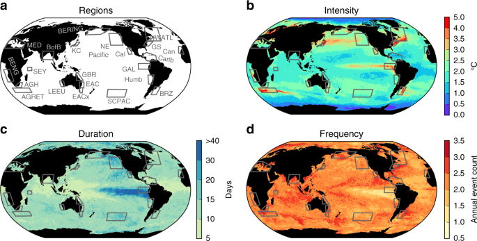 A global assessment of marine heatwaves and their drivers | Nature