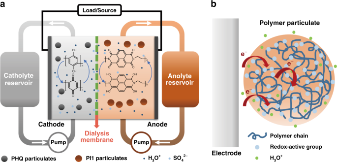 All-polymer particulate slurry batteries | Nature Communications