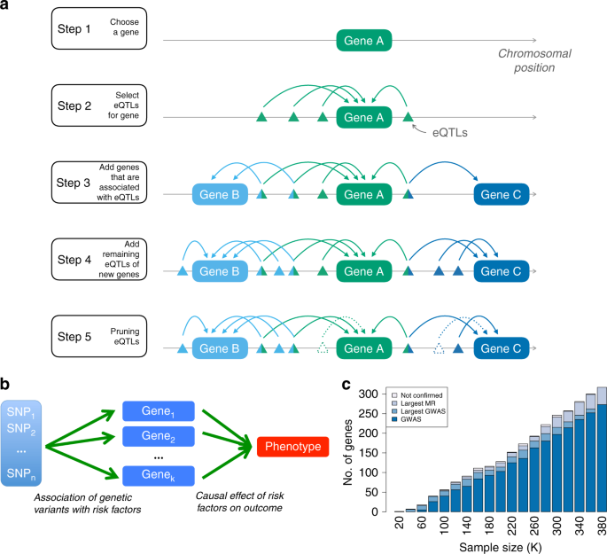 Mendelian randomization integrating GWAS and eQTL data