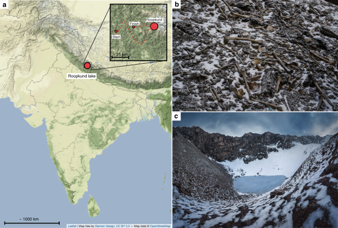 nature.com - Ancient DNA from the skeletons of Roopkund Lake reveals Mediterranean migrants in India