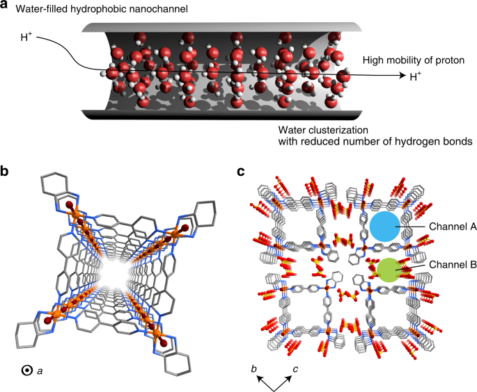 Confined water-mediated high proton conduction in hydrophobic channel of a synthetic nanotube
