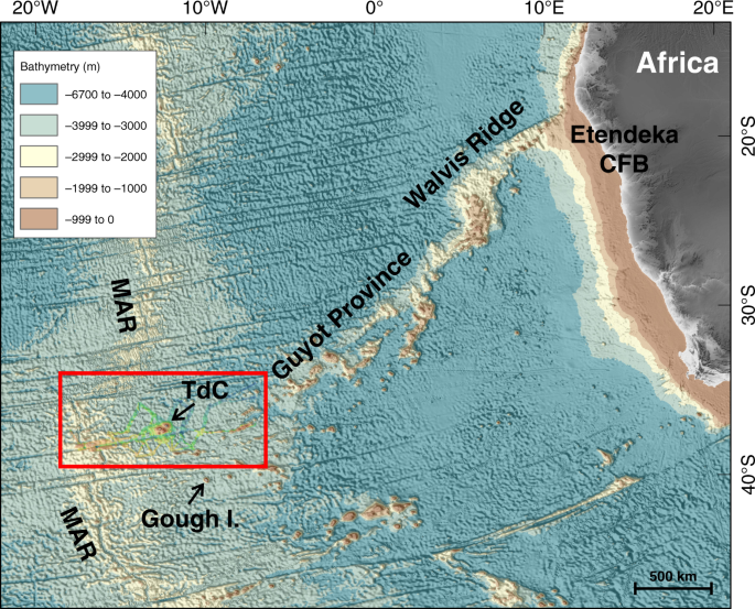 Seafloor evidence for pre-shield volcanism above the Tristan da Cunha mantle plume