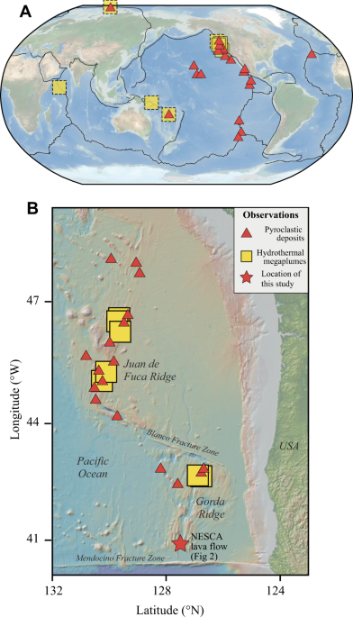 Rapid heat discharge during deep-sea eruptions generates megaplumes and disperses tephra