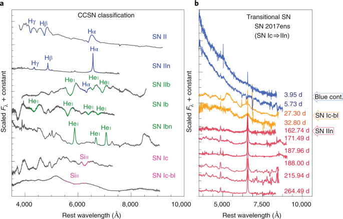 New regimes in the observation of core-collapse supernovae | Nature