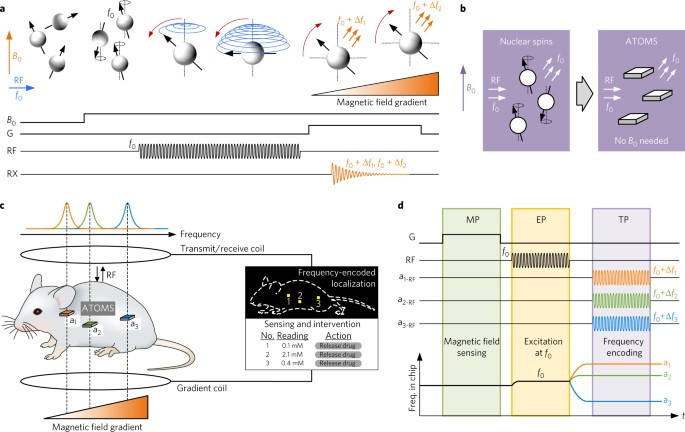 Localization of microscale devices in vivo using addressable