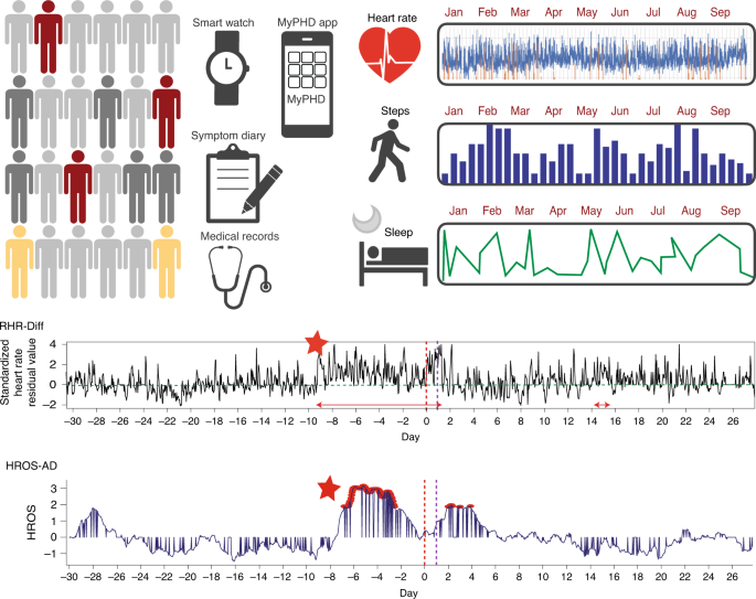 Pre-symptomatic detection of COVID-19 from smartwatch data