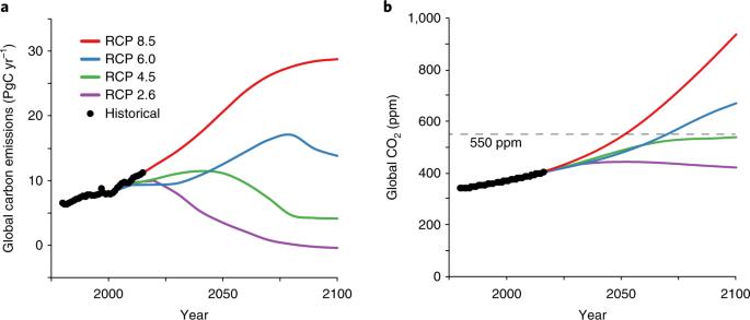 Impact of anthropogenic CO 2 emissions on global human