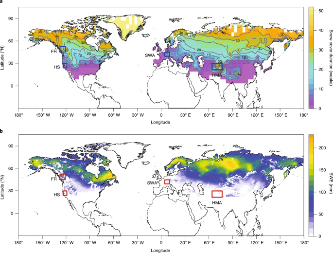 Estimating snow-cover trends from space | Nature Climate Change on