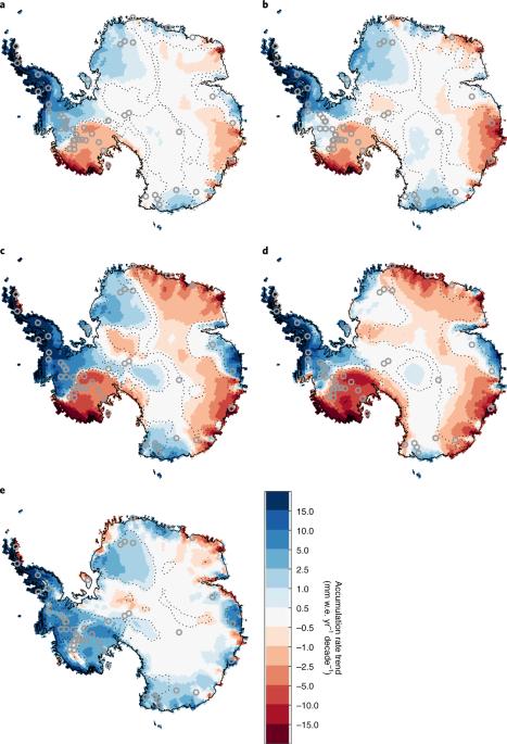 Increased snowfall over the Antarctic Ice Sheet mitigated twentieth-century sea-level rise