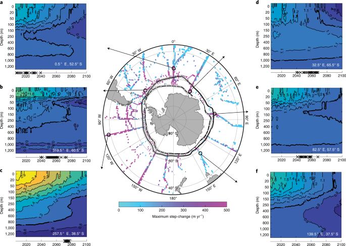 Sudden emergence of a shallow aragonite saturation horizon in the Southern Ocean
