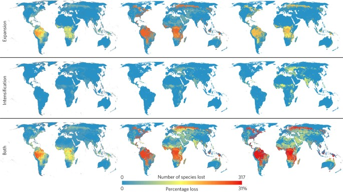 Biodiversity at risk under future cropland expansion and