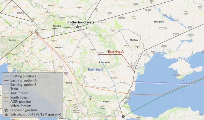The Eastring gas pipeline in the context of the Central and Eastern
