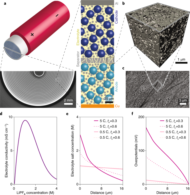 Characterization and performance evaluation of lithium-ion