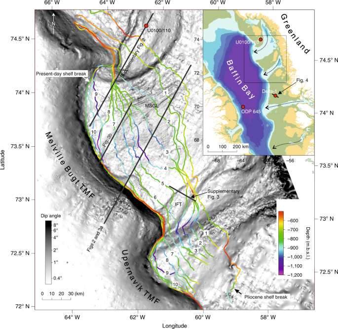 Eleven phases of Greenland Ice Sheet shelf-edge advance over the past 2.7 million years