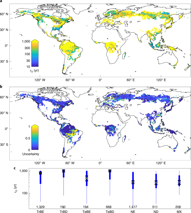 Important role of forest disturbances in the global biomass turnover