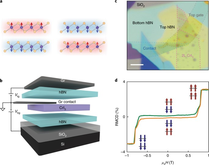 Electrical control of 2D magnetism in bilayer CrI 3 | Nature ... on