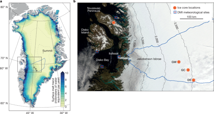 Nonlinear rise in Greenland runoff in response to post-industrial Arctic warming