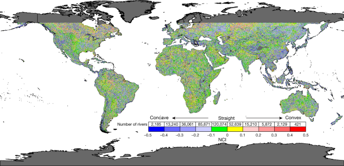 Aridity is expressed in river topography globally