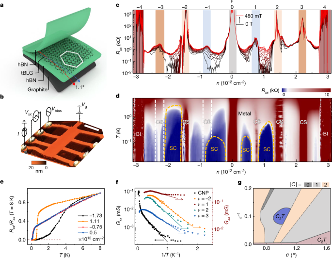 Superconductors, orbital magnets and correlated states in magic-angle bilayer graphene