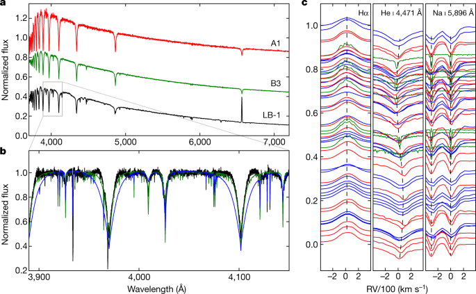 A wide star–black-hole binary system from radial-velocity measurements