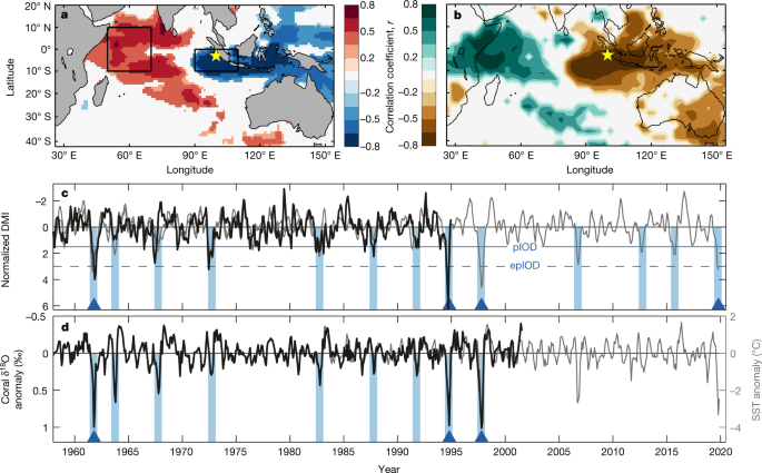 Coupling of Indo-Pacific climate variability over the last millennium