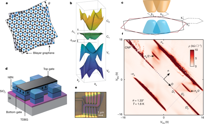 Tunable spin-polarized correlated states in twisted double bilayer graphene