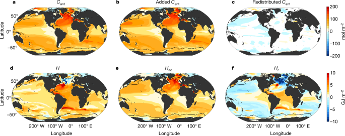 Heat and carbon coupling reveals ocean warming due to circulation changes - Nature.com