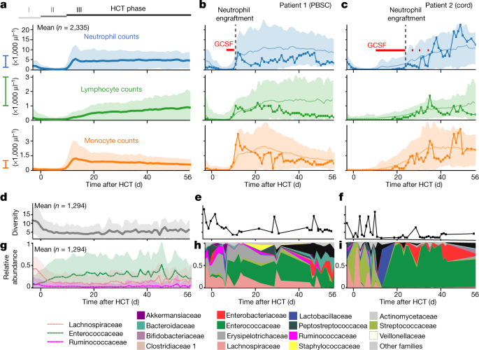 The gut microbiota is associated with immune cell dynamics in humans