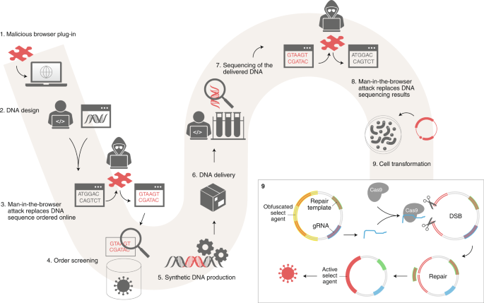 Increased cyber-biosecurity for DNA synthesis