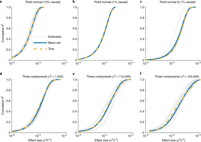 The distribution of common-variant effect sizes