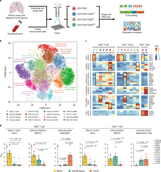 Global Characterization Of T Cells In Non Small Cell Lung Cancer By