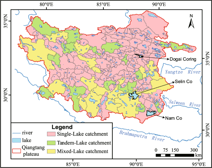 A data set of inland lake catchment boundaries for the Qiangtang Plateau
