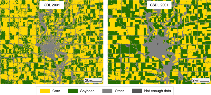 Mapping twenty years of corn and soybean across the US Midwest using the Landsat archive