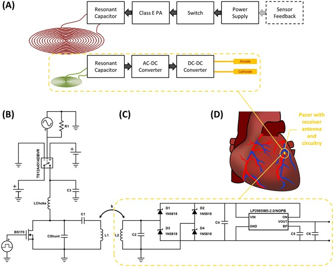 Inductively Powered Wireless Pacing Via A Miniature Pacemaker And Remote Stimulation Control